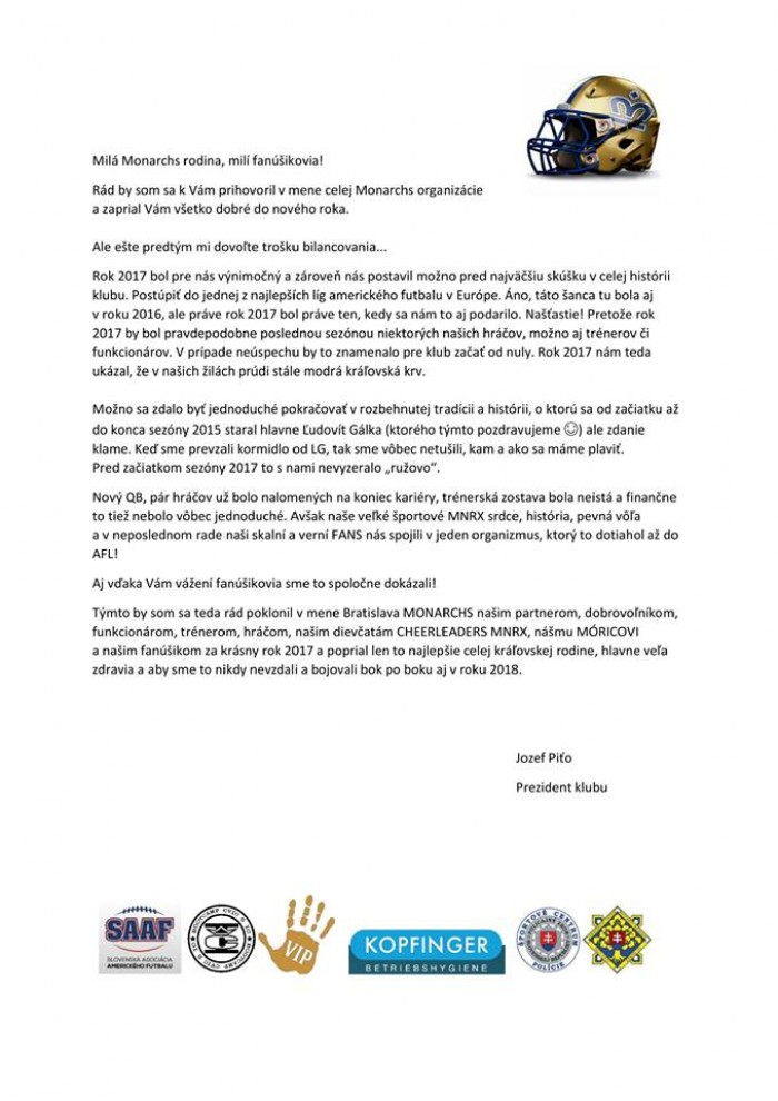 List od Prezidenta