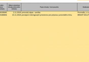 Vyúčtovanie priebežného čerpania juniorskej dotácie - Bratislava Monarchs - rok 2018