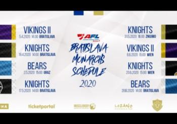 Rozpis zápasov na sezónu 2020